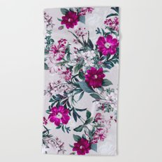 White Spring Beach Towel