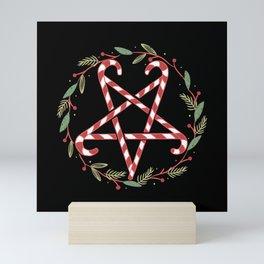 Wreath pentagram made of sugar canes Mini Art Print