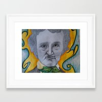 edgar allen poe Framed Art Prints featuring Poe by dillpickledoe