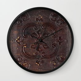 Ancient Leather Book Wall Clock