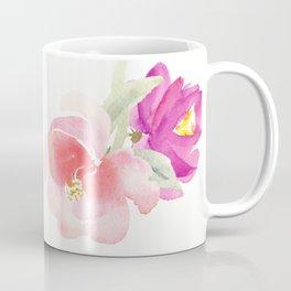 WATERCOLOR FLORAL PILLOW, ROSE PILLOW, ROSE WATERCOLOR Coffee Mug