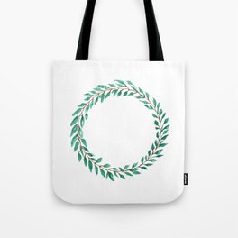 Green Wreath Tote Bag