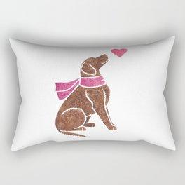 Watercolour Curly-coated Retriever Rectangular Pillow