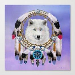 Native American Indian Wolf Spirit Canvas Print