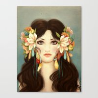 helen Canvas Prints featuring Helen of Troy by Maribellum