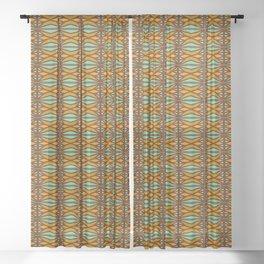 Vintage Art Deco Geometric Pattern Sheer Curtain