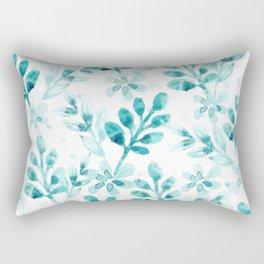 Watercolor Floral VV Rectangular Pillow
