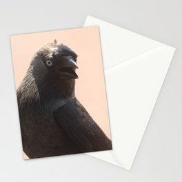 Black Crow Close Up Stationery Cards