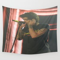 zayn Wall Tapestries featuring Zayn Malik by Halle