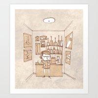 bar Art Prints featuring Bar by Pedro Hamdan