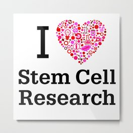I Heart Stem Cell Research Metal Print