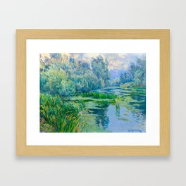 Václav Radimský (1867-1946) At The Confluence Colorful Bright Impressionist Oil Landscape Painting Framed Art Print