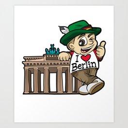 I LOVE BERLIN Brandenburg Gate Germany German Art Print