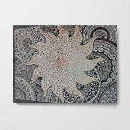 mandala sun Metal Print