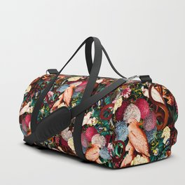 Floral and Animals pattern II Duffle Bag