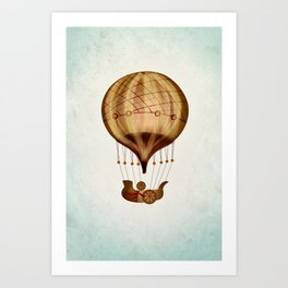 Hot Air Balloon Pioneer Art Print