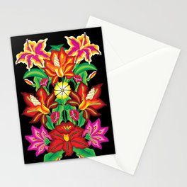 Mexican Exotic Flowers Stationery Cards