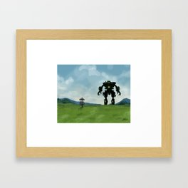 Disc Golf Art - Robot Fairway Framed Art Print