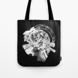 Sydney, Australia Black and White Skyround / Skyline Watercolor Painting (Inverted Version) Tote Bag