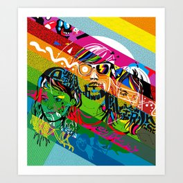 Tribute to Ed Banger Records Art Print