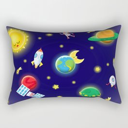 Outer Space Mission Rectangular Pillow