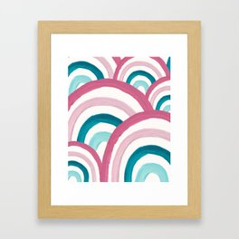 Rainbow Dream Pattern #2 (Kids Collection) #decor #art #society6 Framed Art Print