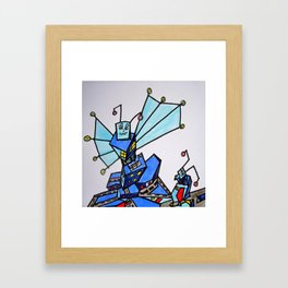 Two Bug-Building-Bots out for a Walk Framed Art Print