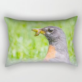 Female american robin Rectangular Pillow
