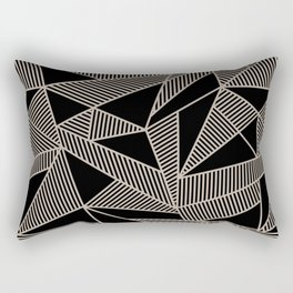 Geometric Abstract Origami Inspired Pattern Rectangular Pillow