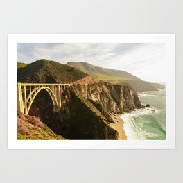 Bixby Bridge Big Sur California Pacific Coast Highway 0575 Art Print