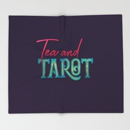 Kelly-Ann Maddox Collection :: Tea and Tarot (Simple) Throw Blanket