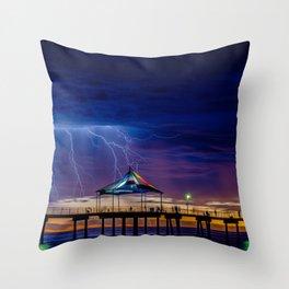 It's Beach Lightning Throw Pillow