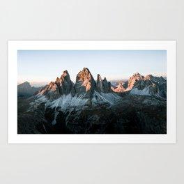 Dolomites sunset panorama - Landscape Photography Art Print