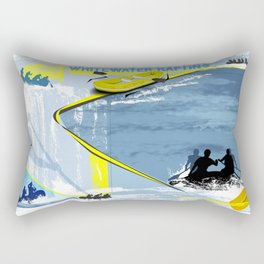 Whitewater Rafting Rectangular Pillow