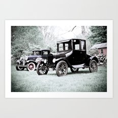 Horseless Carriage Art Print