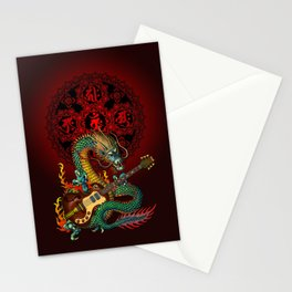 Dragon guitar 1 Stationery Cards