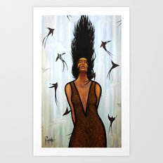 Dama Del Agua Art Print