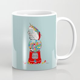 Unicorn Gumball Poop Coffee Mug