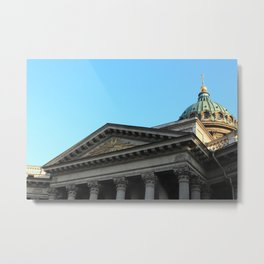Facade of Kazan Cathedral Metal Print
