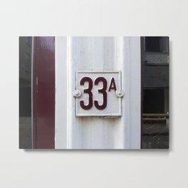 thirty three Metal Print