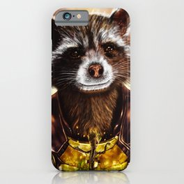Rocket Raccoon and baby Groot from Guardians of the Galaxy iPhone Case