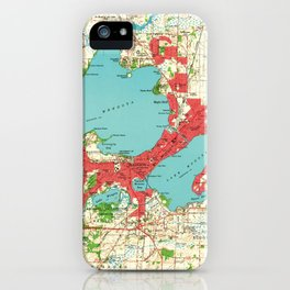 Vintage Map of Madison Wisconsin (1959) iPhone Case