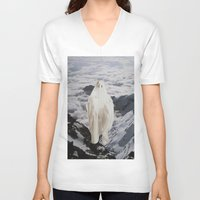 ghost V-neck T-shirts featuring Ghost by John Turck