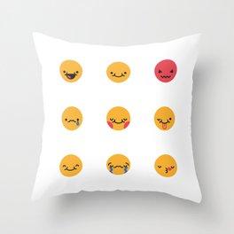 Emojis: All Throw Pillow