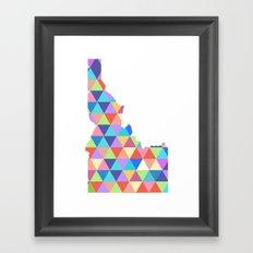 Idaho Colorful Triangles 2 Framed Art Print
