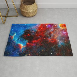 Dreamers In An Endless Universe, Galaxy Background, Universe Large Print, Space Wall Art Decor Rug