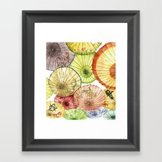 Paper Umbrellas Framed Art Print