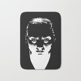 Scary Lady drawing by Woody Compton Bath Mat
