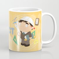 architect Mugs featuring Architect by Alapapaju