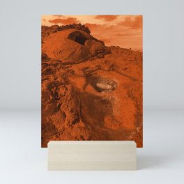Mars landscape Mini Art Print